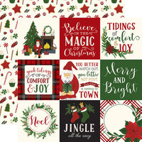 Echo Park - Christmas - Here Comes Santa Claus Collection - 12 x 12 Double Sided Paper - 4 x 4 Journaling Cards