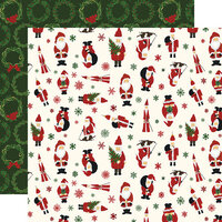 Echo Park - Christmas - Here Comes Santa Claus Collection - 12 x 12 Double Sided Paper - Jingle All The Way