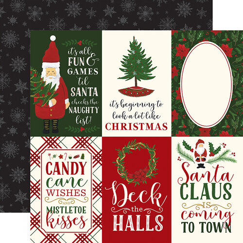 Echo Park - Christmas - Here Comes Santa Claus Collection - 12 x 12 Double Sided Paper - 4 x 6 Journaling Cards
