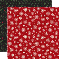 Echo Park - Christmas - Here Comes Santa Claus Collection - 12 x 12 Double Sided Paper - Merry Little Christmas