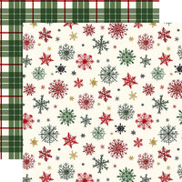 Echo Park - Christmas - Here Comes Santa Claus Collection - 12 x 12 Double Sided Paper - Holiday Greetings