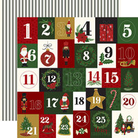 Echo Park - Christmas - Here Comes Santa Claus Collection - 12 x 12 Double Sided Paper - Twenty-Five Days