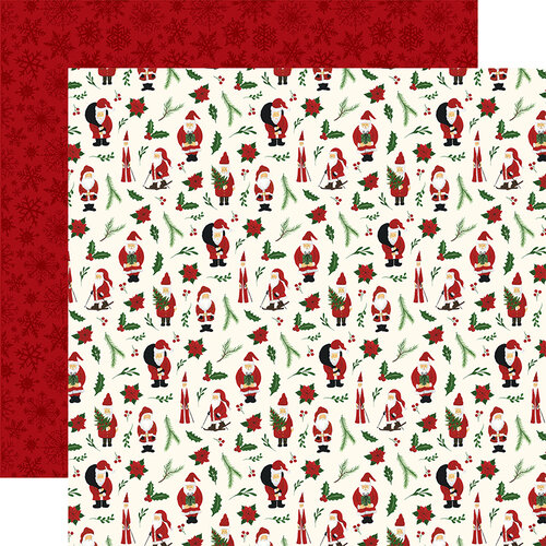 Echo Park - Christmas - Here Comes Santa Claus Collection - 12 x 12 Double Sided Paper - Deck The Halls