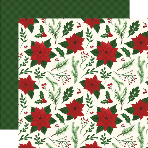 Echo Park - Christmas - Here Comes Santa Claus Collection - 12 x 12 Double Sided Paper - Merry and Bright