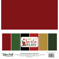 Echo Park - Christmas - Here Comes Santa Claus Collection - 12 x 12 Solids Paper Pack