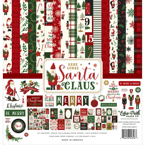Echo Park - Christmas - Here Comes Santa Claus Collection - 12 x 12 Collection Kit