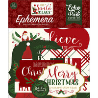 Echo Park - Christmas - Here Comes Santa Claus Collection - Ephemera