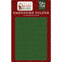 Echo Park - Christmas - Here Comes Santa Claus Collection - Embossing Folder - Christmas Cheer