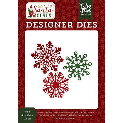Echo Park - Christmas - Here Comes Santa Claus Collection - Designer Dies - Jolly Snowflakes