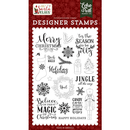 Echo Park - Christmas - Here Comes Santa Claus Collection - Clear Photopolymer Stamps - Magic Of Christmas