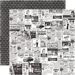 Echo Park - Happy Days Collection - 12 x 12 Double Sided Paper - Ads
