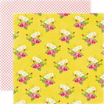 Echo Park - Happy Days Collection - 12 x 12 Double Sided Paper - Big Flowers