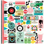 Echo Park - Happy Days Collection - 12 x 12 Cardstock Stickers - Elements