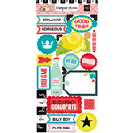 Echo Park - Happy Days Collection - Chipboard Stickers