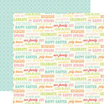 Echo Park - Happy Easter Collection - 12 x 12 Double Sided Paper - Easter Words