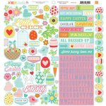 Echo Park - Happy Easter Collection - 12 x 12 Cardstock Stickers