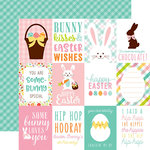 Echo Park - Hello Easter Collection - 12 x 12 Double Sided Paper - 3 x 4 Journaling Cards