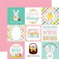 Echo Park - Hello Easter Collection - 12 x 12 Double Sided Paper - 4 x 4 Journaling Cards