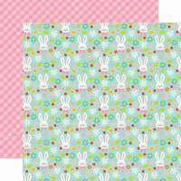 Echo Park - Hello Easter Collection - 12 x 12 Double Sided Paper - Hoppy Easter