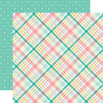 Echo Park - Hello Easter Collection - 12 x 12 Double Sided Paper - Spring Plaid