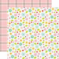 Echo Park - Hello Easter Collection - 12 x 12 Double Sided Paper - Easter Floral