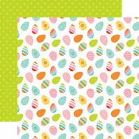 Echo Park - Hello Easter Collection - 12 x 12 Double Sided Paper - Egg-cited