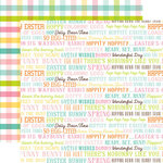 Echo Park - Hello Easter Collection - 12 x 12 Double Sided Paper - Easter Words