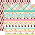 Echo Park - Hello Easter Collection - 12 x 12 Double Sided Paper - Border Strips