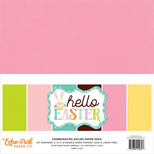 Echo Park - Hello Easter Collection - 12 x 12 Paper Pack - Solids