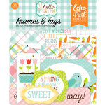 Echo Park - Hello Easter Collection - Ephemera - Frames and Tags