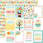 Echo Park - Hello Spring Collection - 12 x 12 Double Sided Paper - 3 x 4 Journaling Cards
