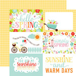 Echo Park - Hello Spring Collection - 12 x 12 Double Sided Paper - 4 x 6 Journaling Cards