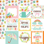 Echo Park - Hello Spring Collection - 12 x 12 Double Sided Paper - 4 x 4 Journaling Cards