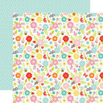 Echo Park - Hello Spring Collection - 12 x 12 Double Sided Paper - Spring Flowers