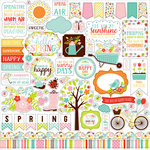 Echo Park - Hello Spring Collection - Cardstock Stickers - Elements