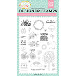 Echo Park - Hello Spring Collection - Clear Photopolymer Stamps - Spring Showers