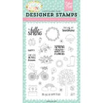 Echo Park - Hello Spring Collection - Clear Acrylic Stamps - Spring Showers