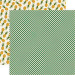 Echo Park - Homegrown Collection - 12 x 12 Double Sided Paper - Green Gingham