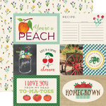 Echo Park - Homegrown Collection - 12 x 12 Double Sided Paper - Homegrown Journaling Cards