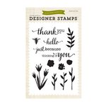 Echo Park - Homegrown Collection - Clear Acrylic Stamps - Watercolors Flowers