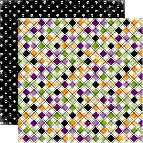 Echo Park - Happy Halloween Collection - 12 x 12 Double Sided Paper - Trick or Treat, CLEARANCE