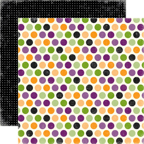 Echo Park - Happy Halloween Collection - 12 x 12 Double Sided Paper - Spooky Dots, CLEARANCE