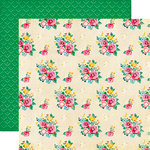 Echo Park - Happiness is Homemade Collection - 12 x 12 Double Sided Paper - Fresh Baked Floral