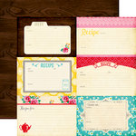 Echo Park - Happiness is Homemade Collection - 12 x 12 Double Sided Paper - 4 x 6 Journaling Cards