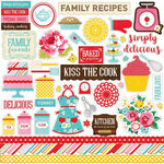 Echo Park - Happiness is Homemade Collection - 12 x 12 Cardstock Stickers - Elements