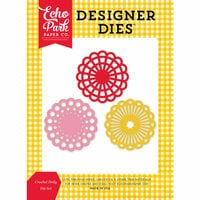 Echo Park - Happiness Is Handmade Collection - Designer Dies - Crochet Doily