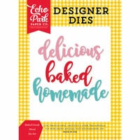 Echo Park - Happiness is Homemade Collection - Designer Dies - Baked Goods Words