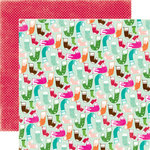 Echo Park - Holly Jolly Christmas Collection - 12 x 12 Double Sided Paper - Stockings are Hung