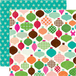 Echo Park - Holly Jolly Christmas Collection - 12 x 12 Double Sided Paper - Dash Away!