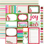 Echo Park - Holly Jolly Christmas Collection - 12 x 12 Double Sided Paper - Journaling Cards